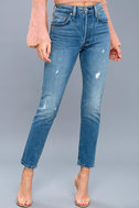 501 Skinny Washed Blue Distressed Jeans 2