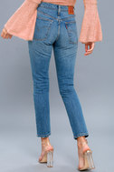 501 Skinny Washed Blue Distressed Jeans 3