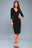 Style and Slay Black Bodycon Midi Dress 1