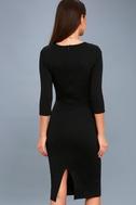 Style and Slay Black Bodycon Midi Dress 3