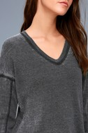 Sawyer Washed Black Long Sleeve Thermal Top 5