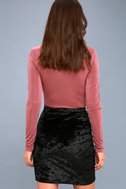 Surely Alluring Black Crushed Velvet Mini Skirt 5