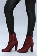 Liverpool Vino Burgundy Suede Mid-Calf Boots 4
