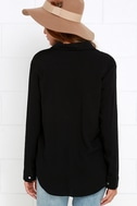 Stylistic Reins Black Long Sleeve Lace-Up Top 8