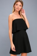 All Night Black Strapless Dress 1