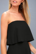 All Night Black Strapless Dress 4