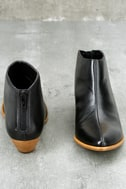 Aida Black Leather Ankle Booties 3