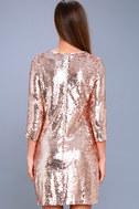 Main Event Rose Gold Sequin Shift Dress 3
