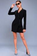 Style Savvy Black Wrap Blazer Dress 2