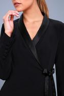 Style Savvy Black Wrap Blazer Dress 4