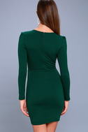 Haute in Here Forest Green Long Sleeve Bodycon Dress 4