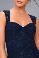 Rosetta Navy Blue Lace Maxi Dress 5