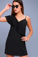 Time of Your Life Black Asymmetrical Shift Dress 3