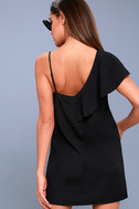 Time of Your Life Black Asymmetrical Shift Dress 4