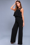 Hollywood Heights Black Lace Jumpsuit 2