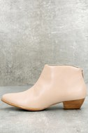 Aida Nude Leather Ankle Booties 1