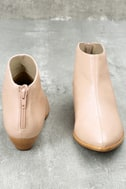 Aida Nude Leather Ankle Booties 3