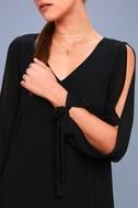First Date Black Long Sleeve Shift Dress 4