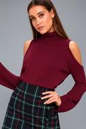 Spoiler Alert Burgundy Turtleneck Sweater 3