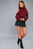 Spoiler Alert Burgundy Turtleneck Sweater 2