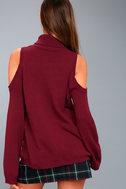 Spoiler Alert Burgundy Turtleneck Sweater 4