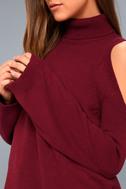 Spoiler Alert Burgundy Turtleneck Sweater 5