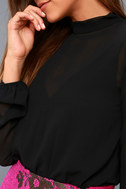 Rayne Black Mesh Long Sleeve Bodysuit 5