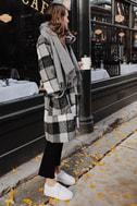 St. Cloud Black and White Plaid Coat 6