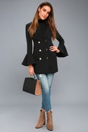 Manchester Black Flounce Sleeve Blazer Dress 5