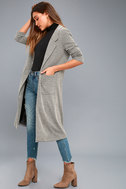 Weather Permitting Grey Longline Coat 3