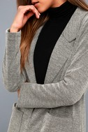 Weather Permitting Grey Longline Coat 5