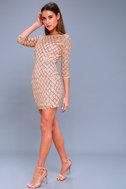 Party Favor Rose Gold Sequin Bodycon Dress 4