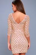 Party Favor Rose Gold Sequin Bodycon Dress 2