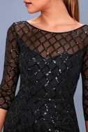 Party Favor Black Sequin Bodycon Dress 1