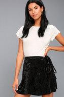 Jayla Black Velvet Wrap Mini Skirt 1