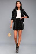 Jayla Black Velvet Wrap Mini Skirt 2