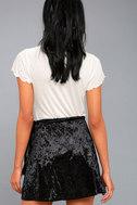 Jayla Black Velvet Wrap Mini Skirt 3