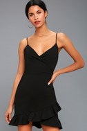 Sealed With a Kiss Black Bodycon Dress 3
