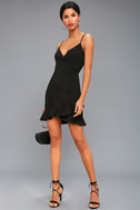 Sealed With a Kiss Black Bodycon Dress 2