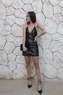Sloan Black Sequin Mini Dress 5