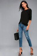 Afternoon Daydream Black Backless Sweater 2
