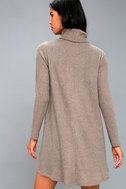 Cozy Express Taupe Long Sleeve Swing Dress 4