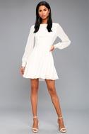 Sadie May White Long Sleeve Dress 2