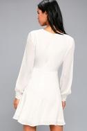 Sadie May White Long Sleeve Dress 3