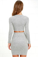 Arabesque Heather Grey Two-Piece Dress 9