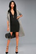 Sascha Black Sleeveless Bodycon Dress 2