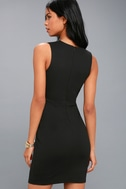 Sascha Black Sleeveless Bodycon Dress 3