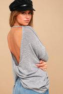 Hazey Baby Heather Blue Sweater Top 1