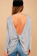 Hazey Baby Heather Blue Sweater Top 3