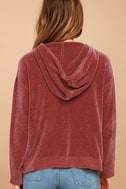 Nellie Rusty Rose Chenille Hoodie 3
